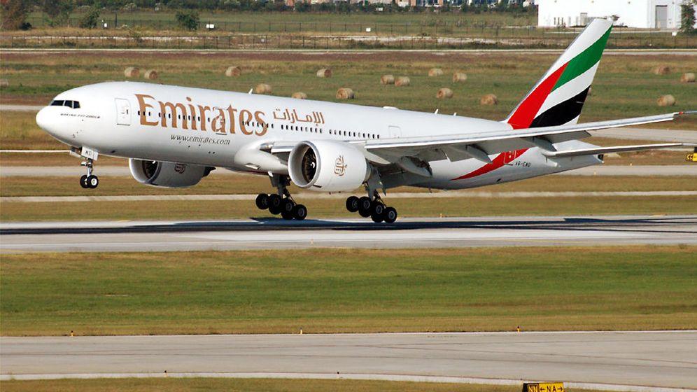 Foto: Un avión Boeing 777 200LR de la compañía Emirates (CC)