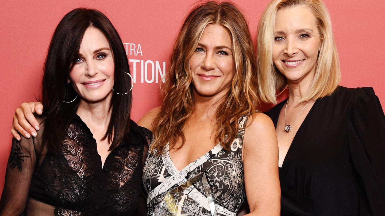 Courteney Cox, Jennifer Aniston y Lisa Kudrow. (Getty)
