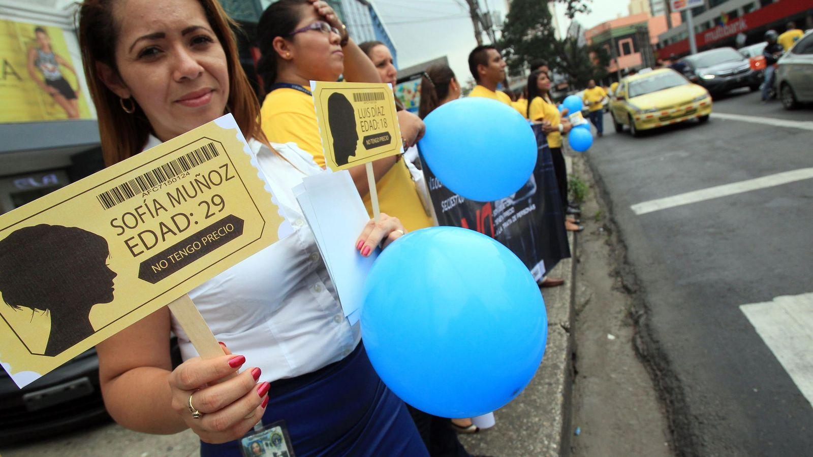 Foto: Imagen de una manifestación contra la trata de mujeres con fines sexuales. (EFE)
