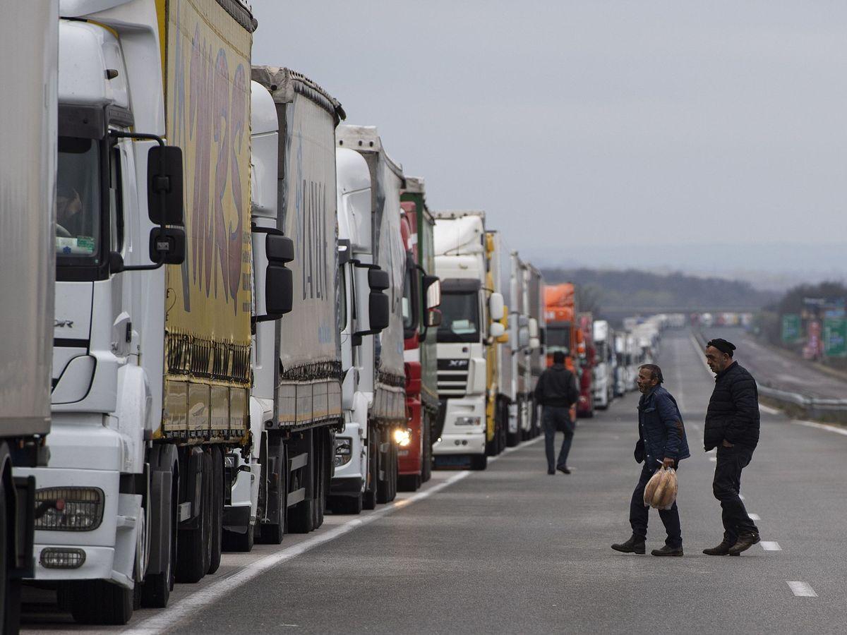 Foto: Camiones en Bulgaria. (EFE)