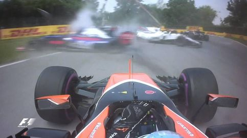 Hamilton se pasea y Vettel salva a Ferrari; Alonso abandona a falta de dos vueltas