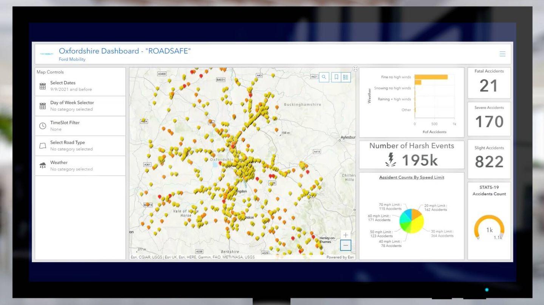 El mapa de incidencias nos muestra donde ha habido accidentes leves, accidentes moderados y accidentes graves, así como el número de cada uno que ha habido en la zona.