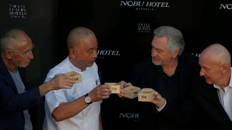 Los socios de la marca Nobu, entre los que destaca Robert de Niro. (Reuters)