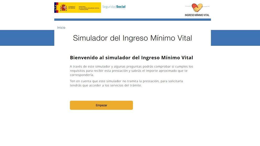 El simulador del ingreso mínimo vital registra tres millones de comprobaciones