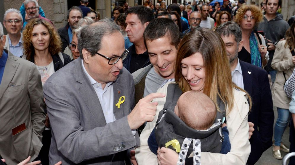 Foto: Quim Torra, durante su visita a Girona el pasado sábado. (EFE)