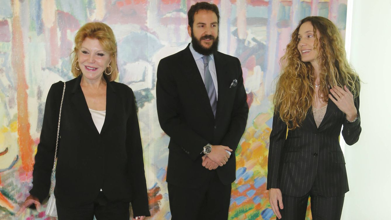 Foto: La baronesa Thyssen junto a Borja y su esposa, Blanca Cuesta