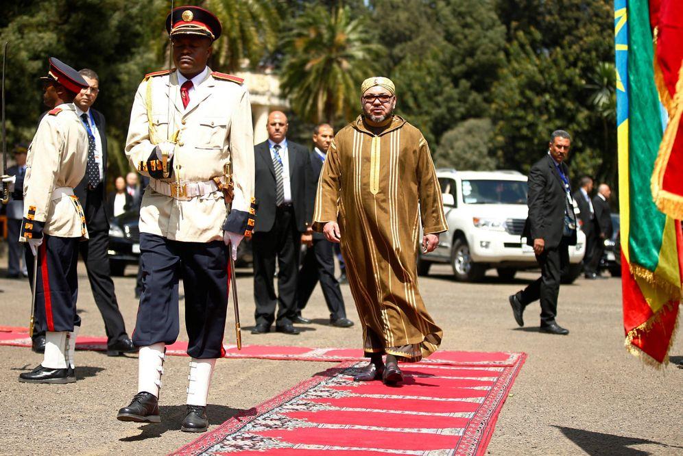 Foto: El rey Mohamed VI durante una visita de Estado a Etiopía, en noviembre de 2016. (Reuters)