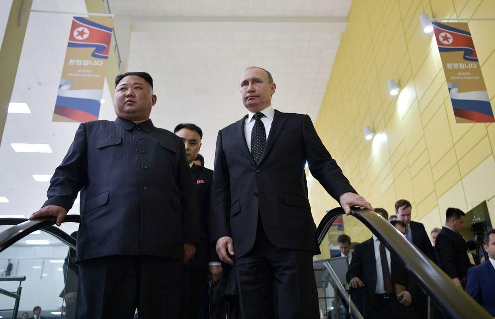 Foto: Vladimir Putin durante su encuentro con Kim Jong Un en Vladivostok, Rusia. (Reuters)