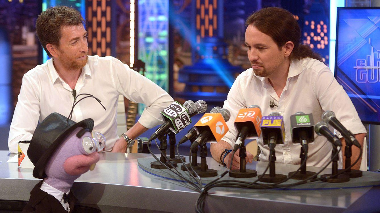 Foto: Pablo Iglesias con Pablo Motos en 'El hormiguero'