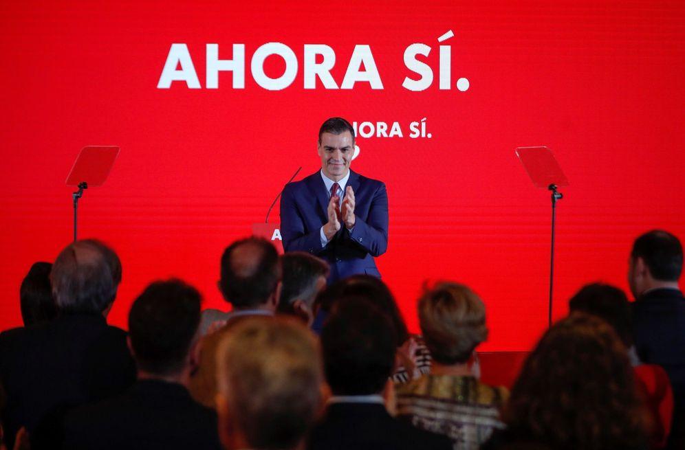 Foto: El presidente en funciones y candidato socialista, este 28 de octubre en el Novotel Madrid Center. (EFE)
