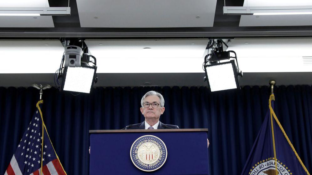 Foto: El presidente de la Reserva Federal, Jerome Powell, durante el anuncio del recorte de tipos. (Reuters)