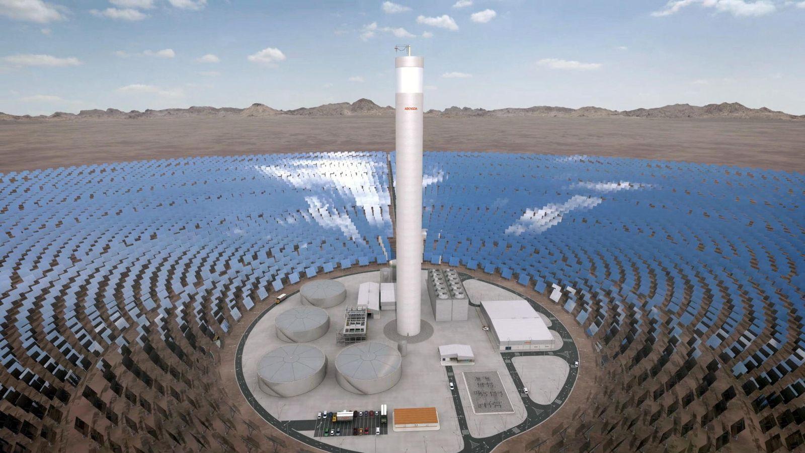 Foto: Campo de energía solar (foto cedida Abengoa)