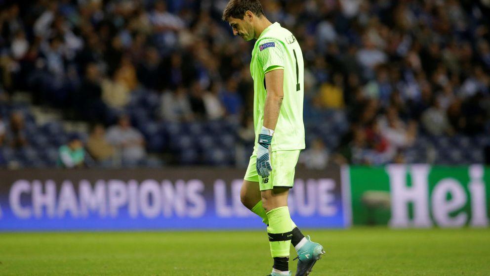 Casillas se estrena en la Champions con derrota y Guardiola, con una goleada