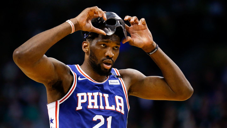 Joel Embiid, jugador camerunés de los Sixers, es uno de los africanos que juegan en la NBA. (USA TODAY Sports)