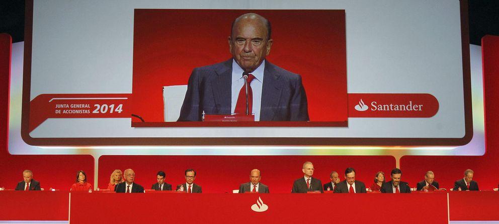 Foto: Vista general de la Junta General de Accionistas del Banco Santander. (EFE)