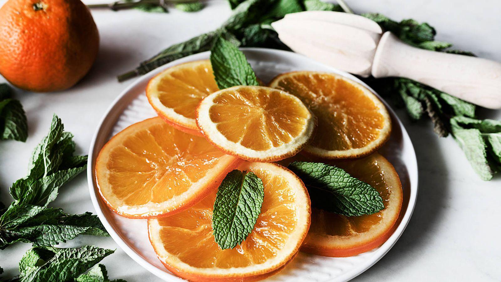 Foto: Naranjas confitadas.