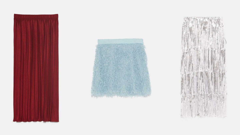 Faldas de Zara. (Cortesía)