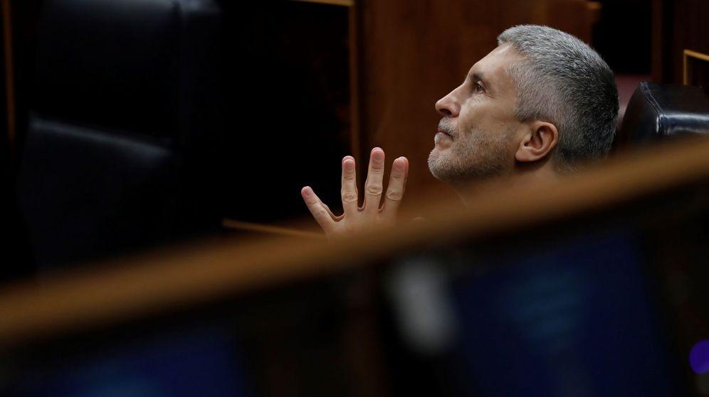 Foto: El ministro del Interior, Fernando Grande-Marlaska, en el Congreso de los Diputados. (EFE)