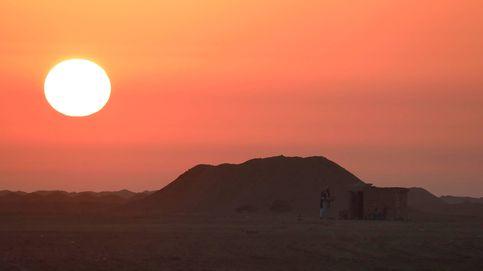 Caza con halcones en el desierto egipcio