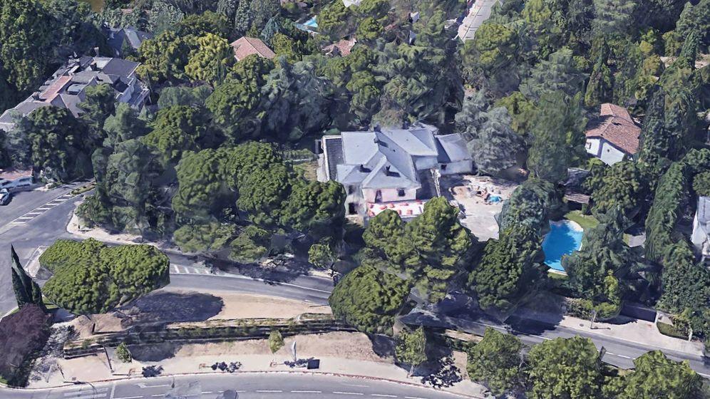 Foto: La mansión madrileña de Luis Iglesias que la UCO ha registrado. (Google Earth)