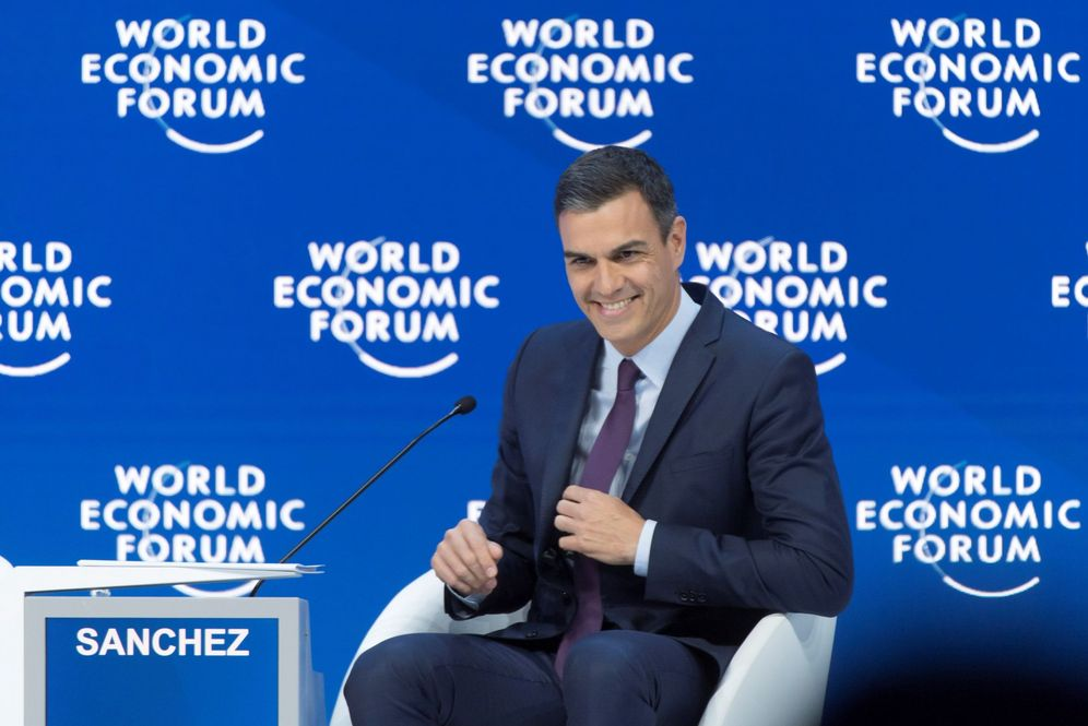 Foto: Pedro Sánchez, el pasado 23 de enero, en Davos, Suiza, en el Foro Económico Mundial. (EFE)