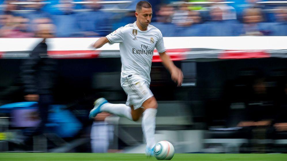 Foto: Eden Hazard, durante su debut con el Real Madrid en Liga. (EFE)