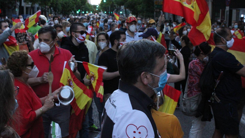 Vista de la protesta en la calle Ferraz. (B. Tena)
