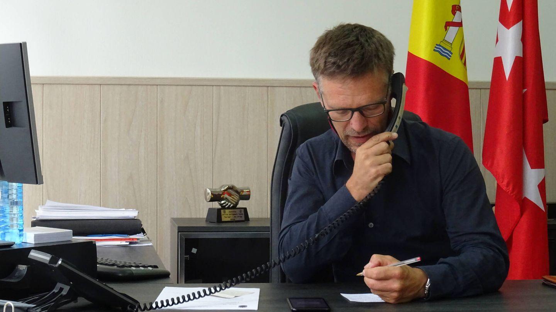 Víctor Manuel López Rodríguez, alcalde de Batres. (Israel Merino)