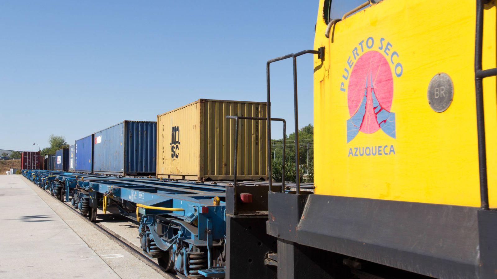Foto: Ferrocarril del Puerto Seco de Azuqueca de Henares. (Terminal Intermodal Centro)