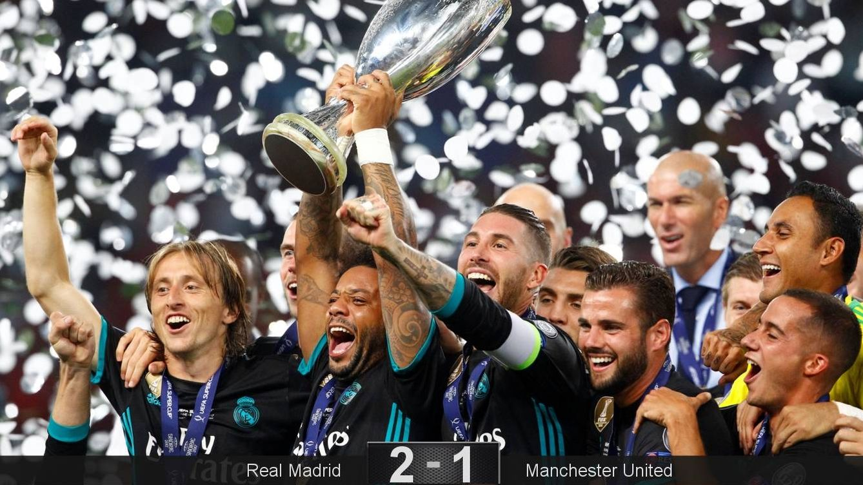 Foto: El Real Madrid levantó su cuarta Supercopa de Europa. (Reuters)