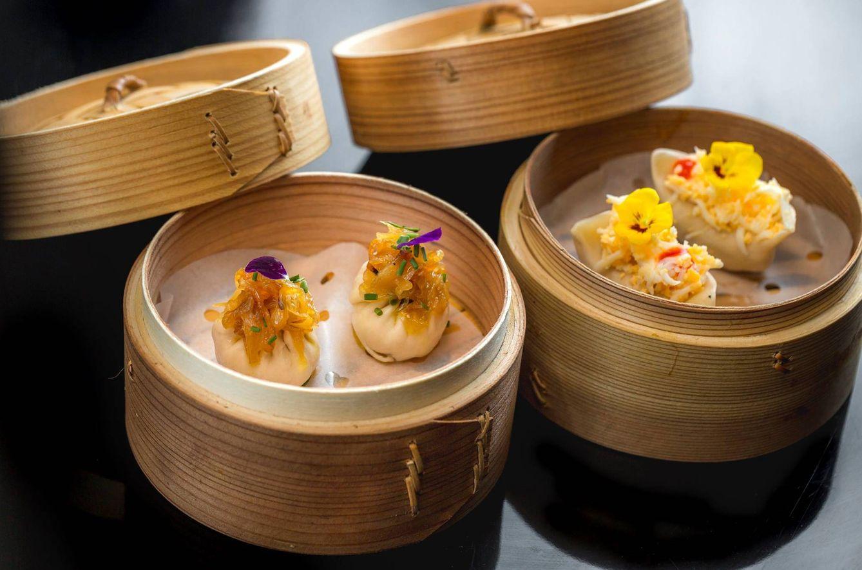 Foto: Dumplings en pepitoria y Xiao Long Bao de tortilla de patatas