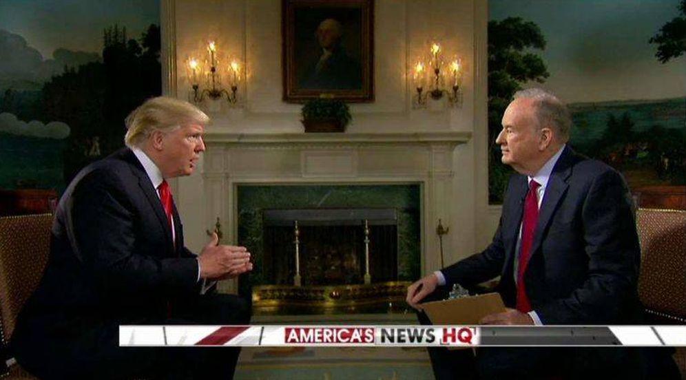 Foto: Captura de pantalla de la entrevista de Donald Trump con Bill O'Reilly. (Fox News)
