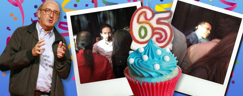 Foto: Montaje fotográfico del cumpleaños de Jaume Roures