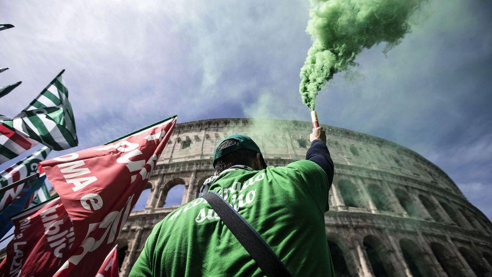 Huelga de empleados públicos en Roma y preparativos para la cumbre del G7: el día en fotos