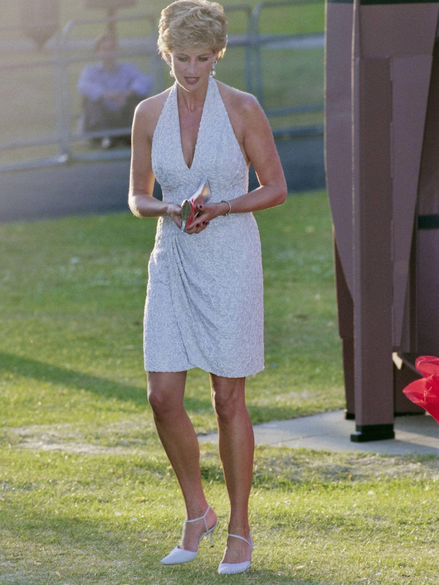 Diana de Gales, en la cena de 'Vanity Fair'. (Getty)