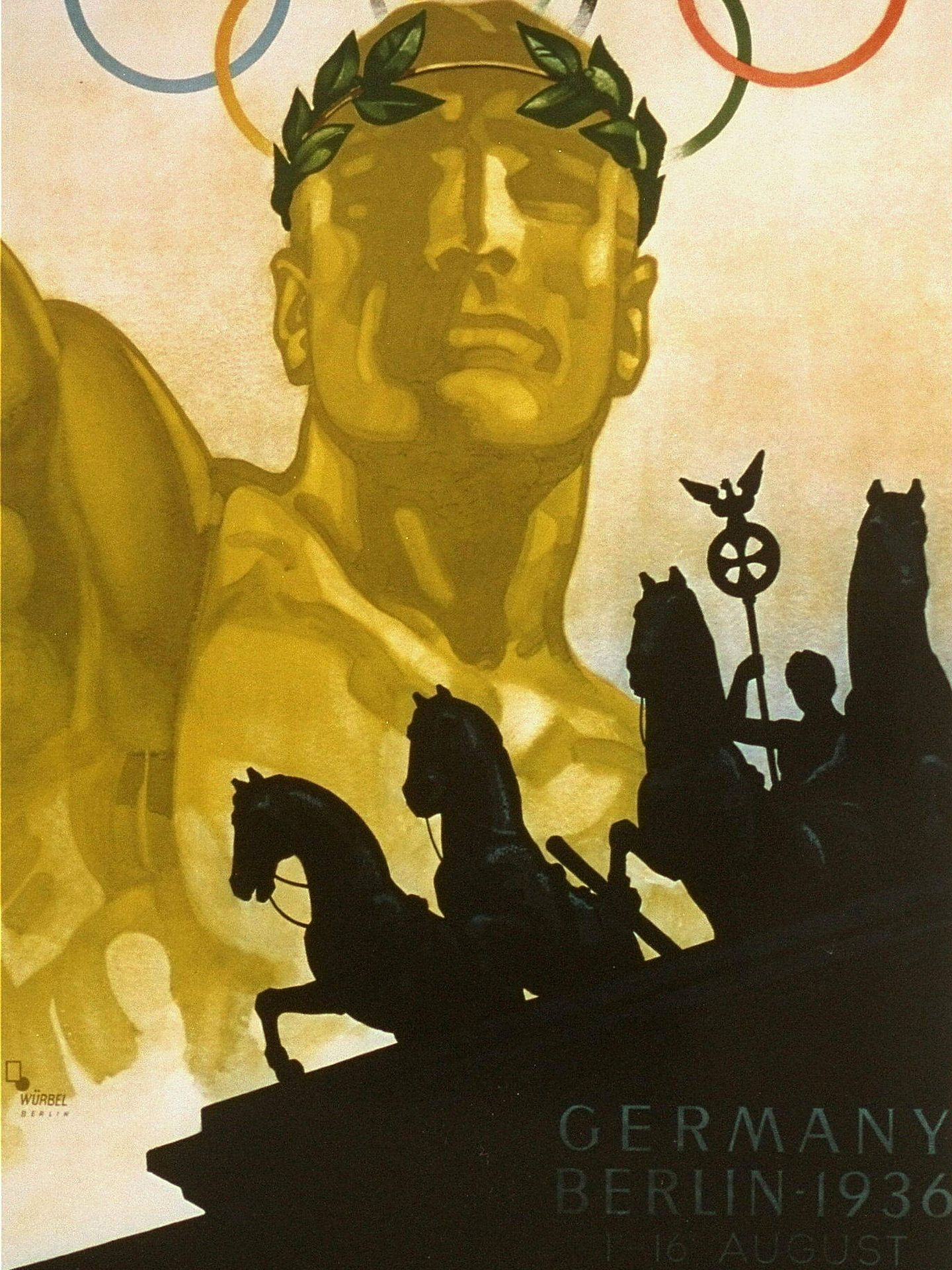 Uno de los carteles propagandísticos de los Juegos de Berlín de 1936. (EFE)