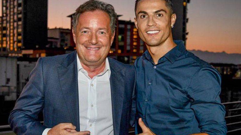 Foto: Piers Morgan y Cristiano Ronaldo. (ITV)
