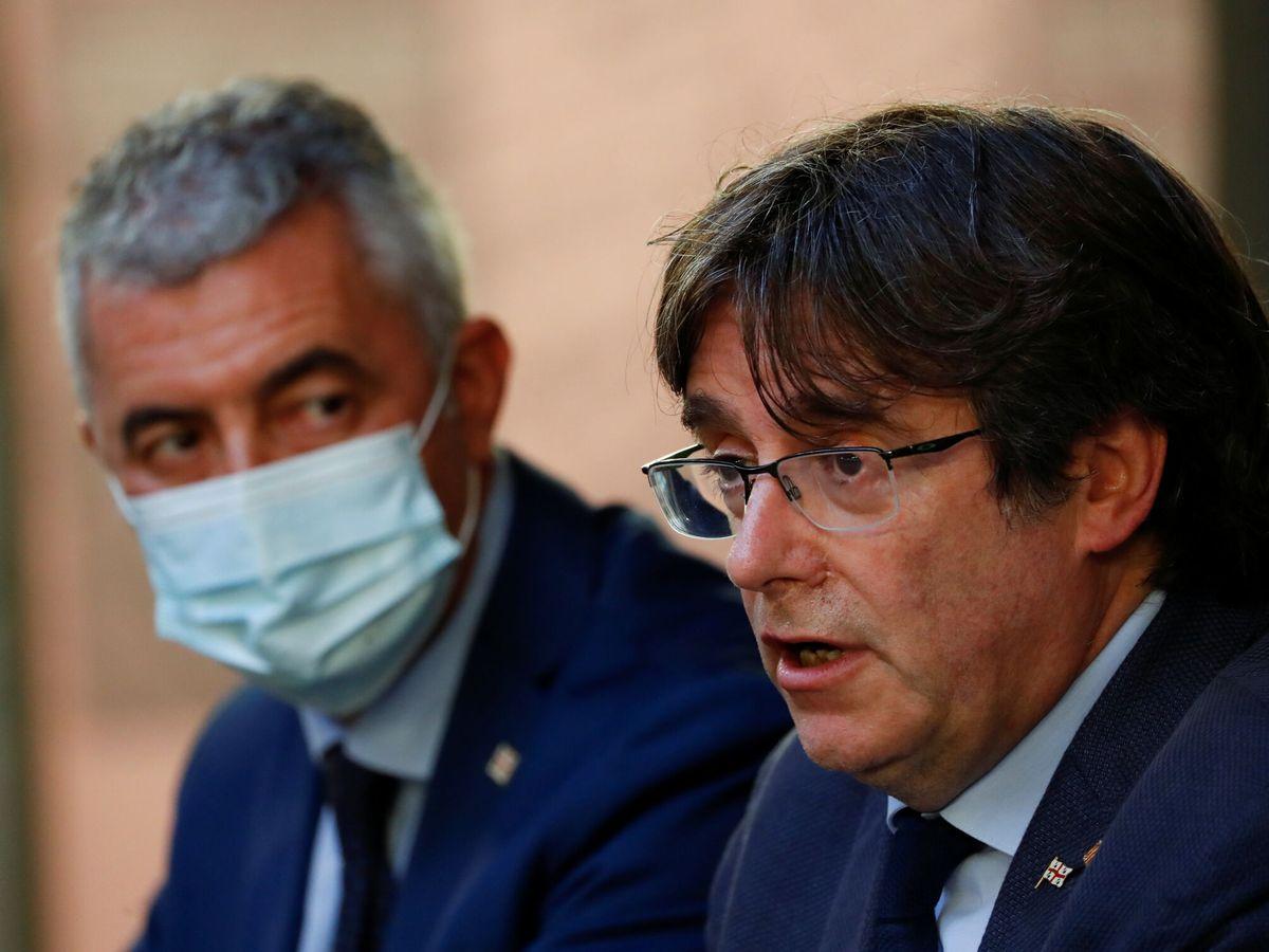 Foto: Carles Puigdemont en rueda de prensa desde Cerdeña. (Reuters)