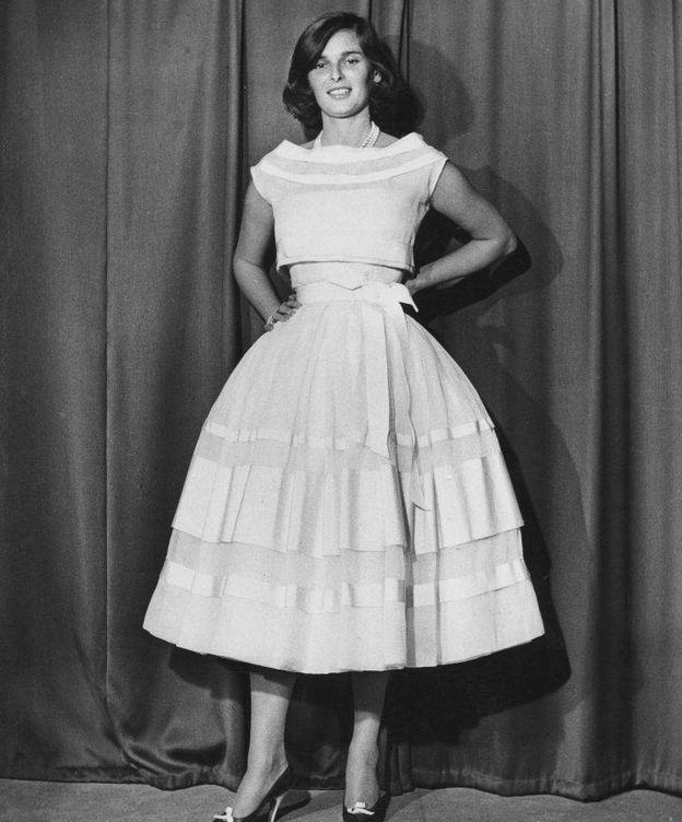 Foto: Lucía Bosé, en Roma en 1956. (Getty)