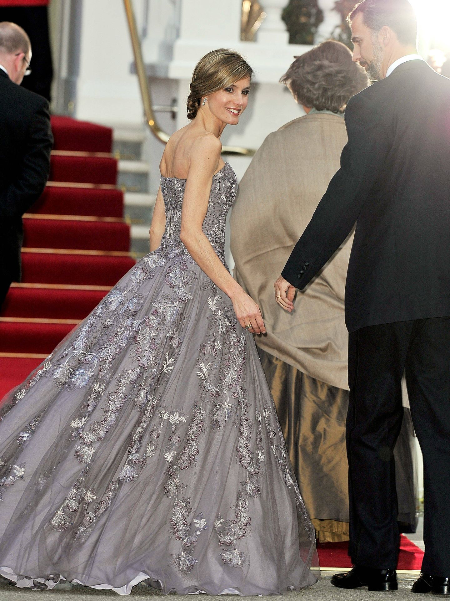La reina Letizia en Londres. (Getty)