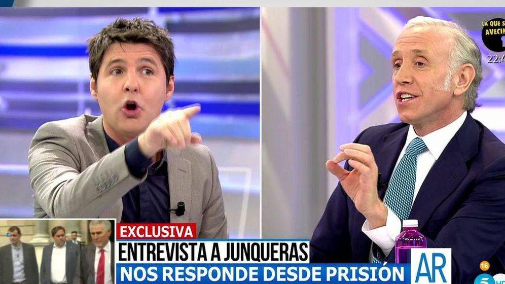 Foto: Jesús Cintora y Edurado Inda discuten en 'El programa de AR'. (Telecinco)
