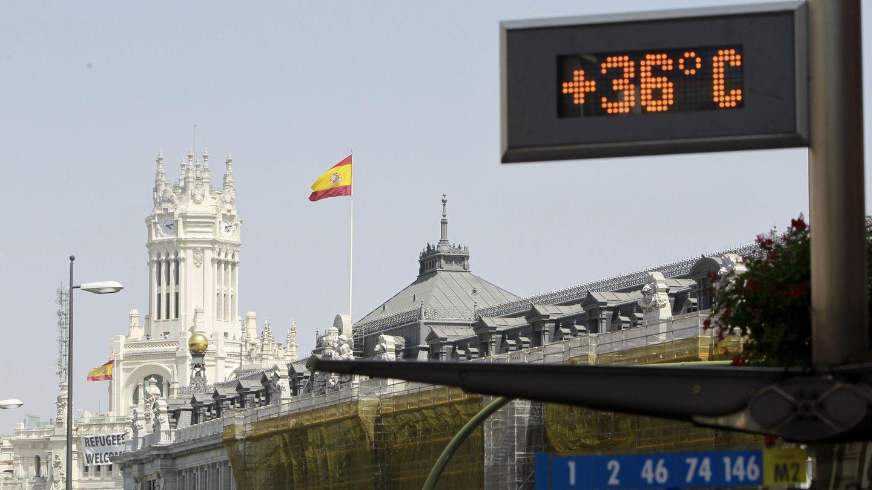 Las altas temperaturas se mantienen en los atardeceres de Madrid (EFE)