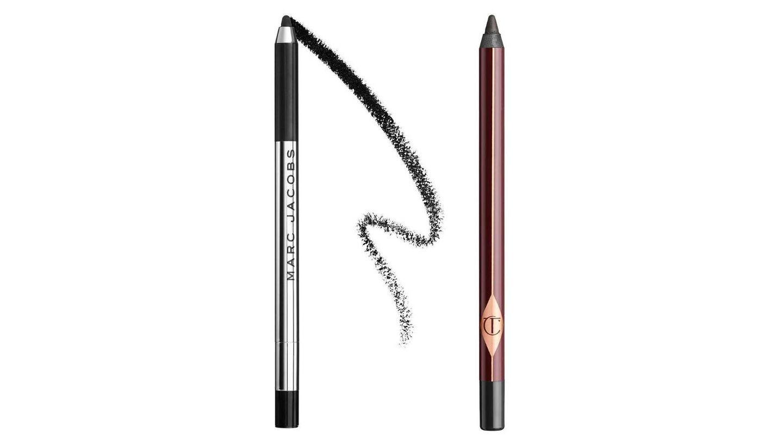 Lápices de ojos waterproof de Marc Jacobs y Charlotte Tilbury.