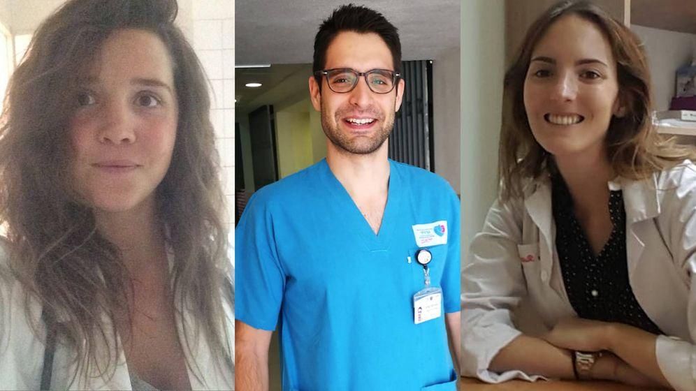 Foto: Los médicos titulados Cintia Toledo (izq.), Enrique Gallego (centro) y Ana Ruiz (dcha.).