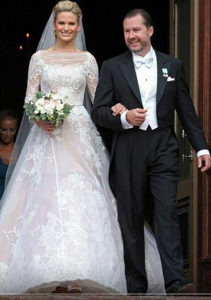 Gustaf Magnuson y Vicky Andrén en Estocolmo, ya como marido y mujer