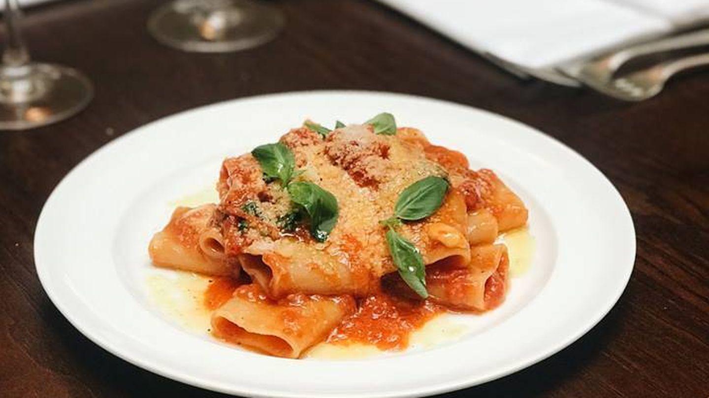 Plato de pasta de Cecconi's. (Cortesía)