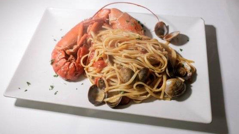 Linguine del mar, en el restaurante Piazze d'Italia. (Cortesía)