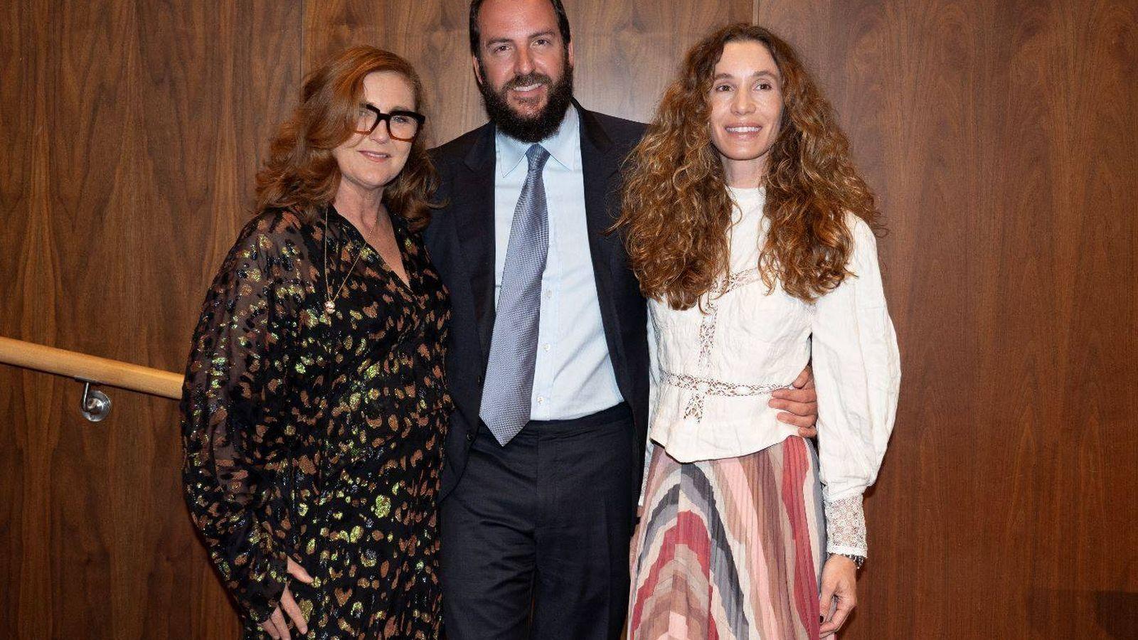 Foto: Francesca, Borja y Blanca Cuesta, en buena sintonía. (Getty)