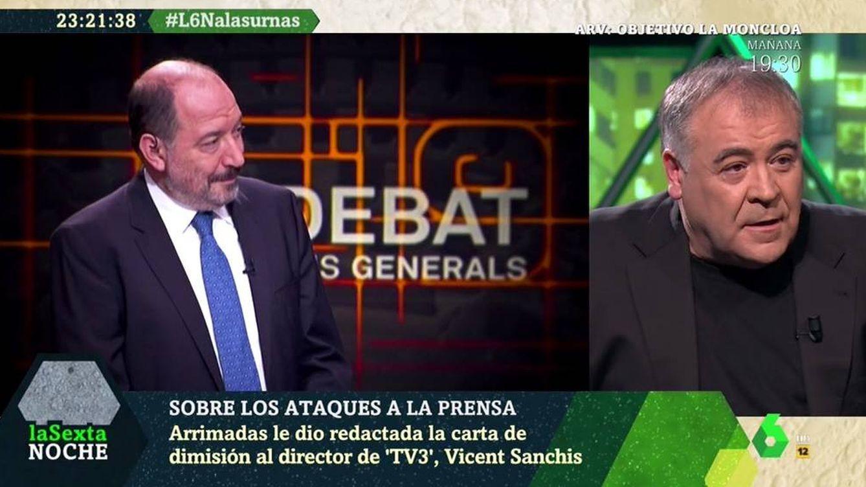 'La Sexta noche' | Antonio García Ferreras carga contra Vicent Sanchís, director de TV3
