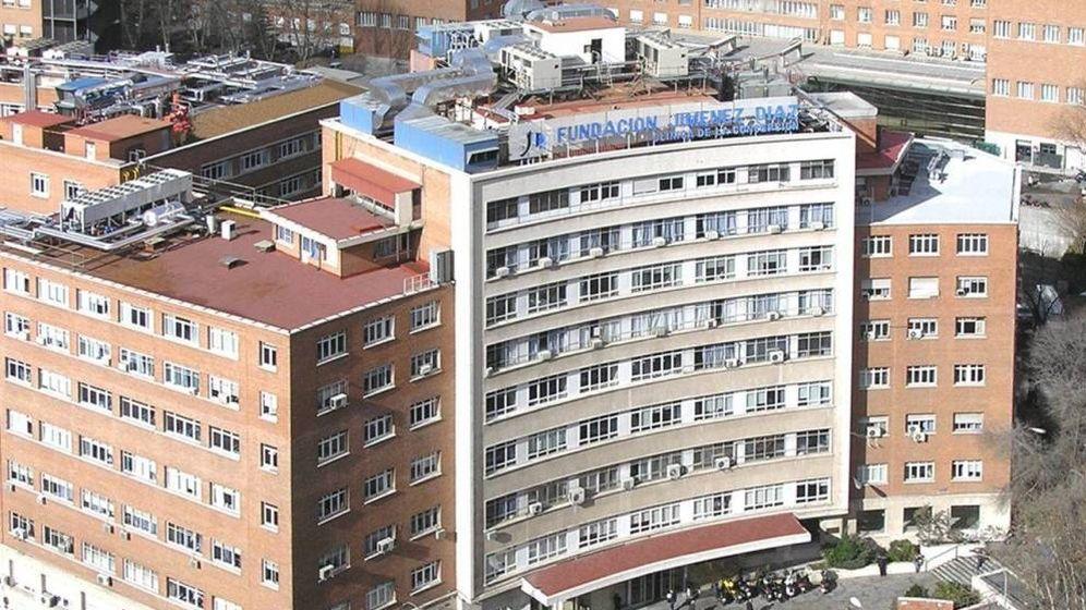 Foto: Fachada de la Fundación Jiménez Díaz de Madrid. (EFE)